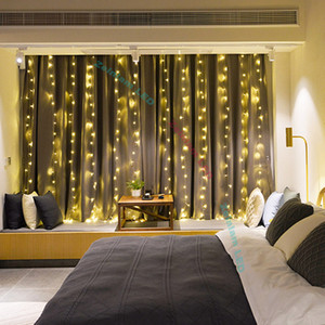 3 * 3 м светодиодные полосы с 8 режимами с памятью окна занавес строка огни свадьба Главная сад спальня настенные украшения