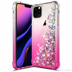 Para Samsung Galaxy Note 10 Caso Glitter Quicksand líquido faísca brilhante Bling diamante Phone Cases para iPhone 11 Pro Max x xr xs