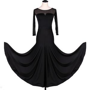 2019 Gesellschaftstanz-Wettbewerbskleider Flamenco-Standardtanzkleider Walzer Tango CHEAP D0945 Großer gekräuselter Saum