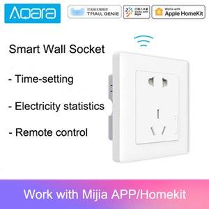 Presa a muro Aqara intelligente Presa a muro ZigBee wireless Mijia Presa a muro interruttore lavoro per Xiaomi Smart Home Kit APP