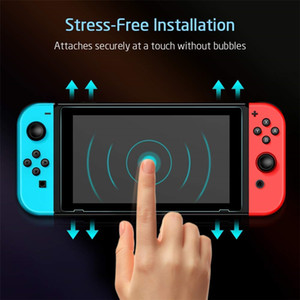 Switch Screen Protector for Nintendo Switch Tempered Glass Screen Saver Protector Film with Transparent HD Clear Anti-Scratch