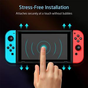 Commutateur écran de protection pour Nintendo Commutateur écran en verre trempé Saver Film de protection transparent avec Clear HD anti-rayures