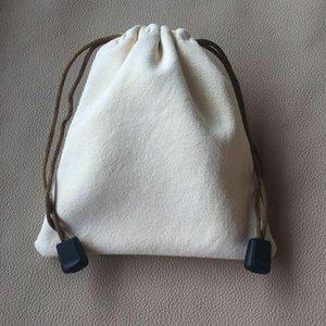 Suede literary toy Bracelet toy deerskin plate bead bag deerskin genuine leather bundle storage plate bracelet flannel bag