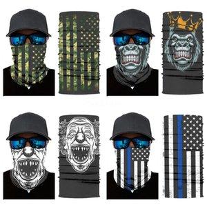 Wholesale- Lot Of Design Skull Series 2 Skull Scarf Variety Magic Bandanas Neckerchief Hijab Outdoor Sports Headband Veil Head #125#382
