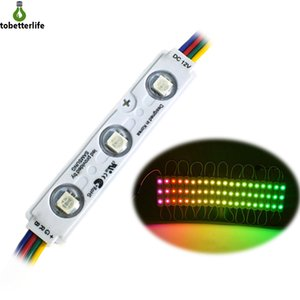 SMD5050 RGB Led Module Light 3LED Injection LED Modules with Lens DC12V 1.5W Waterproof IP65 Strip Light led backlight