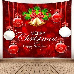 150 * 130cm Noel Goblen Noel ağacı Kardan Adam Duvar Halı 3D Dijital Baskı Duvar Asma Havlu Battaniye Dekoratif Halılar GGA2754