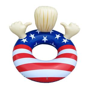 Donald Trump Flutuadores Insufláveis Dos Estados Unidos Bandeira Nacional Swim Círculo Adulto Criança Natação Anel Espessamento Eco Friendly 45ss C1