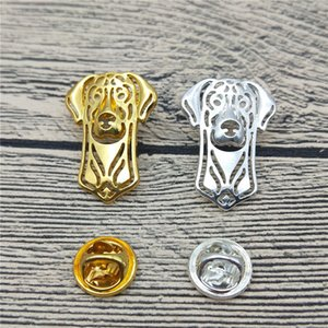 New Doberman Pinscher Brooches and Pins Trendy Animal Metal Suit Brooches Men Fashion Pet Jewellery