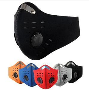 Bisiklet Maskeleri Toz geçirmez Bisiklet Solunum Ile Aktif Karbon Açık Eğitim Yüz Kalkanı Saf Yarım Yüz Ağız Muffle Maskeleri DHD132