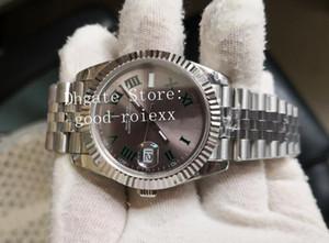 7 Стиль 41 мм мужские римские Уимблдон автоматические Азии BP заводские часы Юбилейный браслет 126300 часы мужские 126334 Datejust Кристалл наручные часы