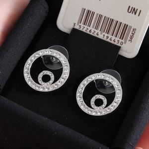 Marca de moda tiene sellos Pendientes de diseño de círculo para Lady Mujeres Partido Amantes de la boda Regalo Compromiso Joyería de lujo para novia con caja