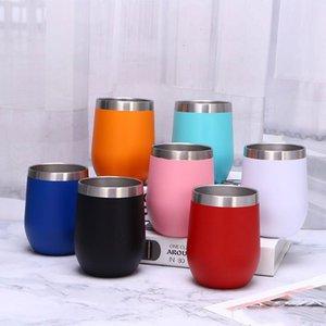 Promotion en U Accueil Tasse à café d'eau en acier inoxydable imprimé coquille d'oeuf tasse portable pour l'extérieur Tasses Camping