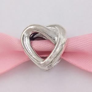 Otantik 925 Gümüş Boncuk Düğümlü Kalp Charm Charms Avrupa Pandora Stil Takı Bilezikler Kolye 798081 uyar