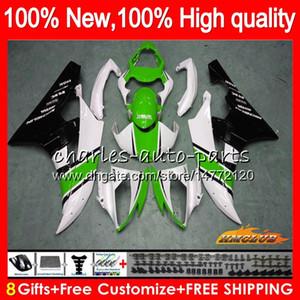 Corps OEM YAMAHA YZF R 6 600CC 600 YZF YZF600 06-07 Cadre 61NO.123 YZFR6 YZF600 YZF R6 stock vert YZFR6 06 07 2006 2007 Carénage Kit