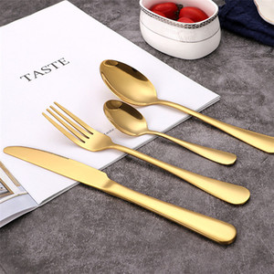 Parlak Altın Çar Sofra Çatal Kaşık Bıçak Çatal Altın Paslanmaz sofra takımı Sofra Bulaşık makinesinde yıkanabilir Hotel Restaurant