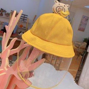 Cubierta de la cara Sombrero del pequeño pescador fresco transparente máscara protectora Parasol Pescador Sombrero Splash niños y niñas EEA1326-6