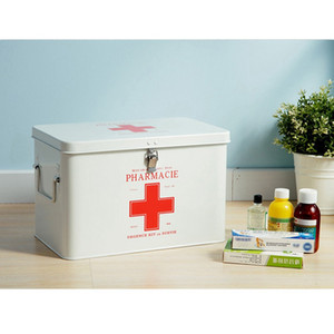 Первой помощи Pyxides сейфа для хранения классификации шкафа бытовой металлической отделкой выпечки аптечка аварийные выезды случае 31.5*19*20см