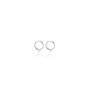 20PCS Silver Plated Non-piercing Clip on Spring Hoop Earrings 13mm