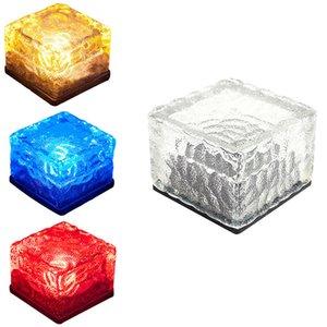 CRESTECH Güneş Cam Tuğla Işık - Güneş Ice Cube LED Aydınlatma - Kristal Tuğla Taş Lambası Garden Courtyard Yolu Veranda Havuz Buz blokları ışık