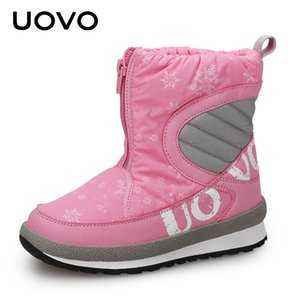 UOVO 2020 New Winter Shoes For Boys And Girls High Quality Fashion Kids Winter Boots Warm Snow Children's Footwear Size 30#-38# CX200805