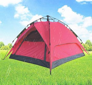 Outdoor Tents Fully automatic Opening Instant double layer Portable Beach Tent Beach Shelter Hiking Camping Family Tents 2-4 Person MMA2152