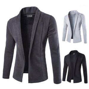 V-neck Slim Fit Sweater Sweatshirts Mens Knitted Casual Cardigans Autumn Spring