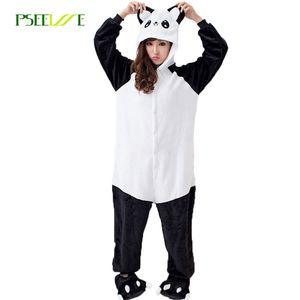 Panda Pajama Adulto Onesie animal Pijama uma peça Inverno Algodão Pajama Define Mulher Onesies para Adultos Mulheres panda sleepwear