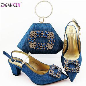 Модная африканская обувь и сумка Set ItalianSets Royal Blue Цвет Итальянская обувь с Matching Сумки для Royal Wedding Party Y200702