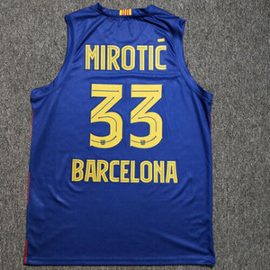 New Nikola Mirotic # 33 Basketball Jerseys Euroleague Espanha print CUSTOM qualquer número nome Jérsei 4XL 5XL 6XL