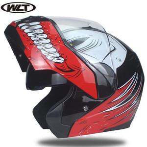 2018 Toda a gente pode pagar capacetes para motociclistas, capacetes aleta modulares, guarda-sol duplo de corrida de alta qualidade aprovação DOT Z