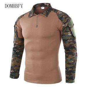 ABD Ordusu Üniforma Combat Gömlek Erkekler Assault Taktik Kamuflaj Tişörtlü Paintball Uzun Kollu SWAT Tee Tops