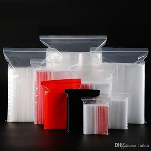 11 * 16CM إغلاق جيوب حقيبة شفافة PE الغذاء كيس مختوم