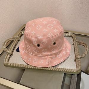 Lüks moda markası Kepçe şapkalar mektup Renk çubuğu Çift balıkçı şapka yüksek kaliteli klasik siyah beyaz kadın ve erkek seyahat BB058 taraflı