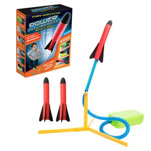 Crianças Brinquedos Outdoor Games Holiday Fun Pé Sports jogo Foguete Set Ir Stomp Pedal Passo foguete bomba Lançador Power Training Ir
