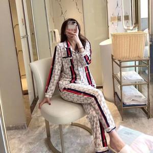 2020 nuova versione coreana api stampata pigiama in velluto d'oro signore high-end casual maniche lunghe confortevole ed elegante usura casa