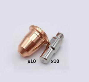 20pcs S45 CUT55 PT40 PT40 IPT-40 PR0110 Electrodes PD0116 Conseils Buse 1,0mm pour TRAFIMET PLASMA TORCH CONSOMMABLES