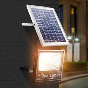 LED Solar Powered Lights Remote Waterproof Wall Lamp Sensor Display LED Floodlight Outdoor Street Garden Yard Path Security Lamp LJJZ455
