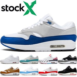 nike air max 1 Lusso Università Blu uomini donne scarpe da corsa del progettista 1 Uno Parra Puerto Rico atomica Teal Era Windbreaker Patch mens Trainer Sneakers
