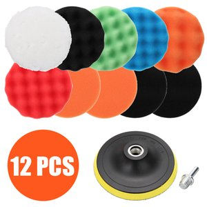 12pcs 125mm Sponge Car Polisher Waxing Pads Buffing Kit for Boat Car Polish Buffer Drill Wheel polisher Removes Scratches