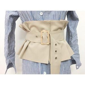 Más el tamaño de la correa del corsé cinturones negro para las mujeres cummerbund ancho de la moda grande elástico casaca ceinture femme C990701