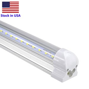V-Shaped 2ft 4ft 8ft Cooler Door Led Tubes T8 Integrated Led Tubes 18W 36W 72W AC85-265V Transparent cover Double Sides Led Lights