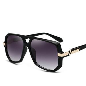 고품질 파일럿 선글라스 남자 브랜드 디자이너 2019 2018 평방 빈티지 steampunk 선글라스 음영 망 안경 태양 안경