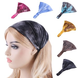 Nouvelles femmes bandeau danse Bandeau en coton stretch hairband couleur tie-teints Bandeaux bande élastique cheveux Turban Accessoires