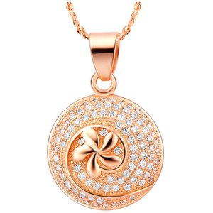 Belle Été Fleur style Mode nacklace Rose / blanc plaqué or pour les femmes Colliers Bijouterie