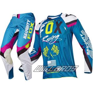 Azul MARUGHTY Motocross Gear Set MX Moto Kits ATV Dirt Bike Jersey y pantalón Combos Off Road Adult Racing Motocicleta Ropa