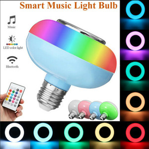 2019 Mini Bluetooth Hot récent Ampoule E27 12W RGB LED Bluetooth drahtlose Fernbedienung Musik Lautsprecher Birne