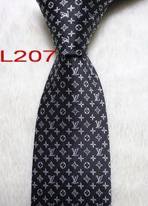 L207-16 Mens clássico de seda poliéster Laços para homens Marca Gravatas magro noivos gravata para Suit Wedding Party Shirt luxo