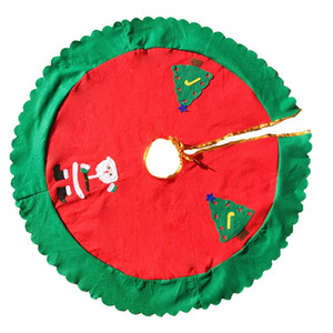 Weihnachtsbaum-Kleid Schürze Nonwoven Zuhause-Party-Dekoration Weihnachtsgeschenk Fasion entworfen mit Weihnachtsmann-Karikatur