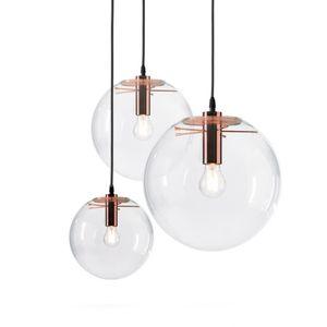 Glass Pendant Lights Modern Globe Round Ball Hanglamp Lustre Suspension luminaire Lighting dinning room Kitchen Light Fixtures