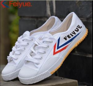Livraison gratuite Feiyue Chaussures de sport original Chaussures classiques arts martiaux Taekwondo Taichi Kungfu Chaussures confortables souples à lacets hommes chaussures femmes